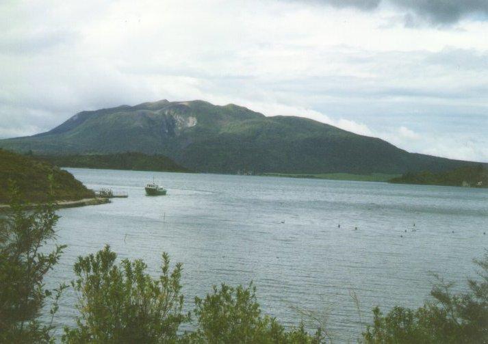 Lago e vulcão Tarawera
